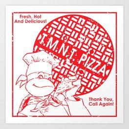 TMNT Pizza Art Print