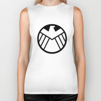 agents of shield Biker Tanks featuring SHIELD by Bastien13