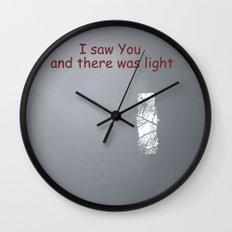 I saw You Wall Clock