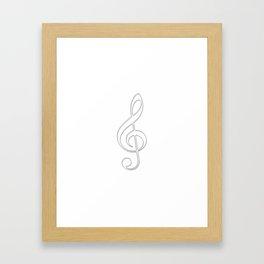 Treble clef Framed Art Print