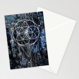 Flower geometry Stationery Cards