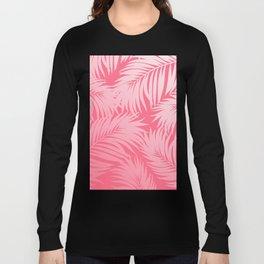 Palm Tree Fronds c'est parfait on pink Hawaii Tropical Décor Long Sleeve T-shirt