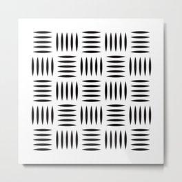Geometric Pattern #123 (industrial floor) Metal Print