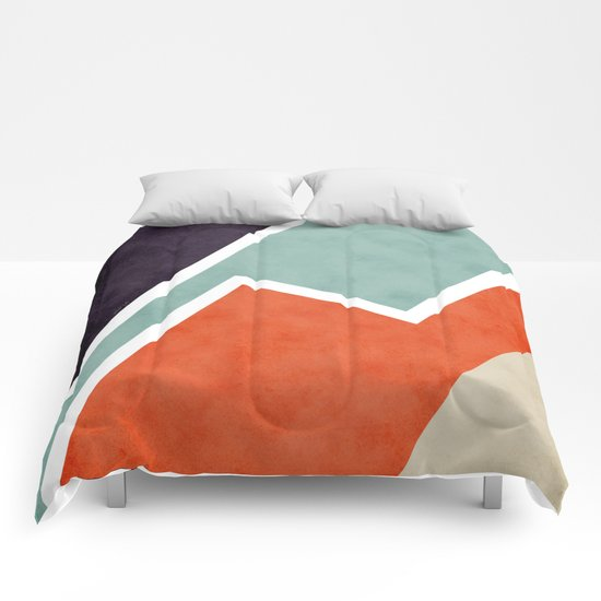 Colorful Textural Abstract Graphic Comforters