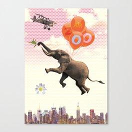 Elephant Air Zoo Canvas Print