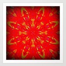 Fire Mandala Art Print