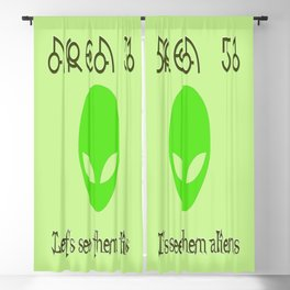 Area 51 Let's see them aliens Blackout Curtain