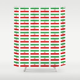 flag of iran 2- Persia, Iranian,persian, Tehran,Mashhad,Zoroaster. Shower Curtain
