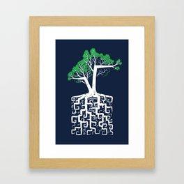 Square Root Framed Art Print