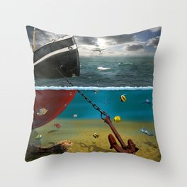 View into the underwater world Throw Pillow