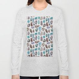 Ocean Sea Stones Pattern Long Sleeve T-shirt