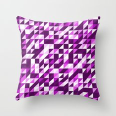Purple Patchwork Throw Pillow