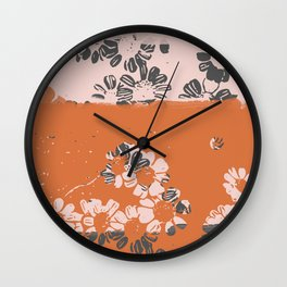 makenzie: ditsy florals Wall Clock