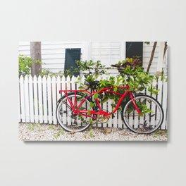 Key West Bike Metal Print