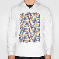 triangles Hoodies featuring TRIANGLES by Kiley Victoria