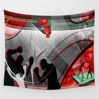 boxing Wall Tapestries featuring Boxing by Robin Curtiss