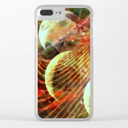 Four Moons in Red Clear iPhone Case
