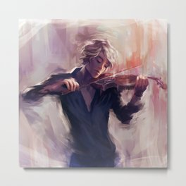 Violin and James Carstairs Metal Print