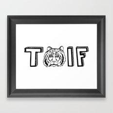 T (tiger) IF Framed Art Print