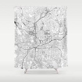 Atlanta White Map Shower Curtain