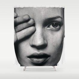 Kate Moss fashion Shower Curtain