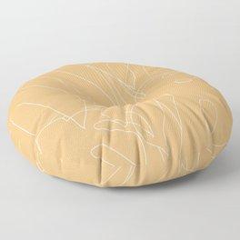Monstera No2 Yellow Floor Pillow
