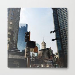 Streets of Minneapolis Metal Print
