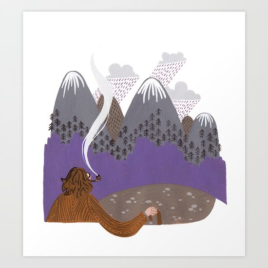 The steep slopes Art Print