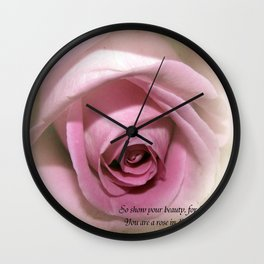 So Show your Beauty Wall Clock