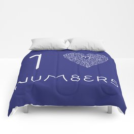 I heart Numbers Comforters
