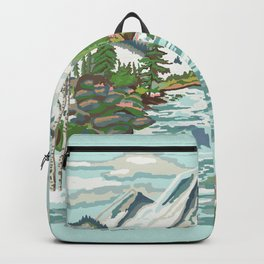 Paint by Number Mountain Medow Backpack