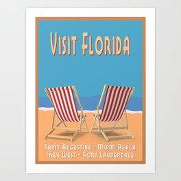 Florida Vintage Travel Poster Art Print