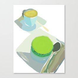 Cafe Noisette and Pistache Macaron Canvas Print