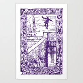 Ali Boulala, skateboard extraordinaire! Art Print
