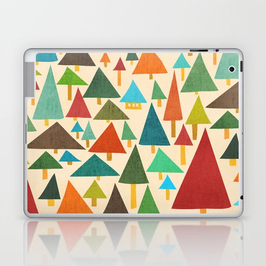 The house at the pine forest Laptop & iPad Skin
