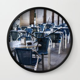 Cafe at Barcelona, Plaza Reial, Travel photography Wall Clock