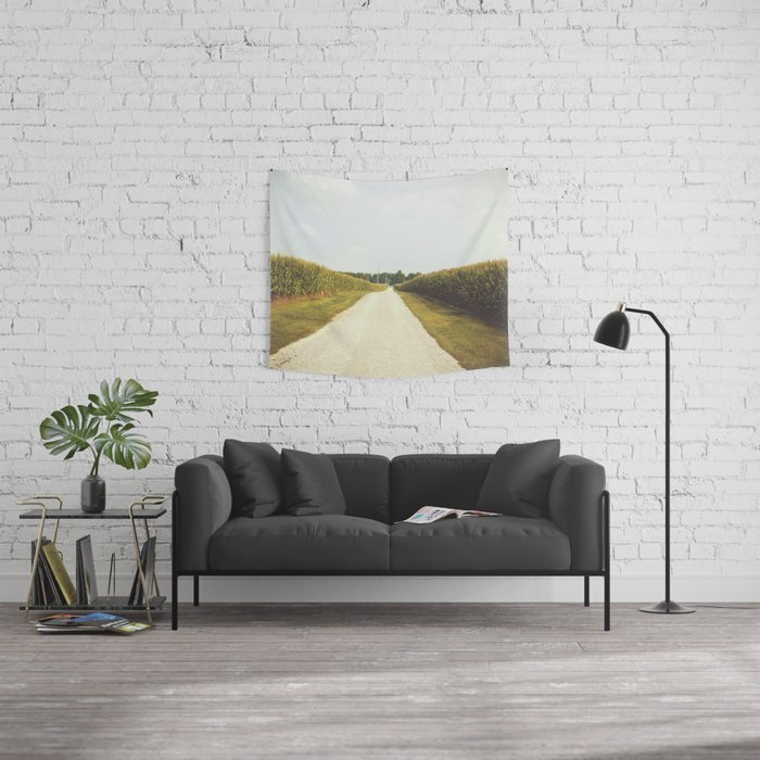 Indiana Corn Field Summers Wall Tapestry