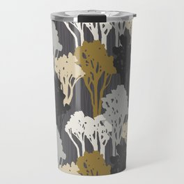 Arboreal Silhouettes - Golds & Silvers Travel Mug