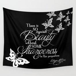 Strange Skullerflies - EA Poe Quote Wall Tapestry