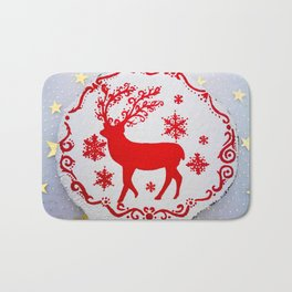 Christmas ornament Bath Mat