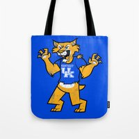 kentucky Tote Bags featuring Kentucky by jublin