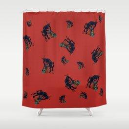 The Krampus - an Austrian Legendary Figure Shower Curtain