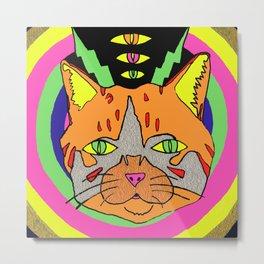 Hallucinogenic Kitty Metal Print