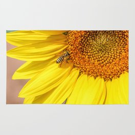 Honey Bee and Sunflower Rug