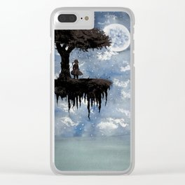 The Girl Among The Stars Clear iPhone Case
