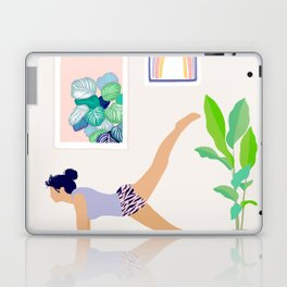 Girl Power Yoga pose Laptop & iPad Skin