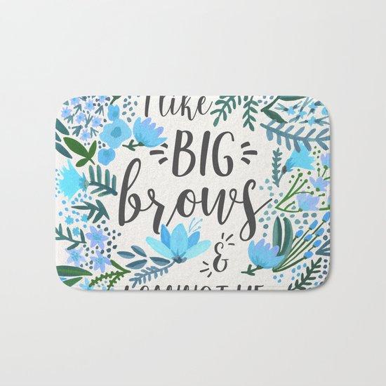 Big Brows – Blue Palette Bath Mat