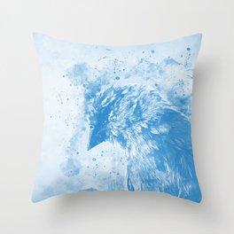 spotted madagascar fody wswb Throw Pillow