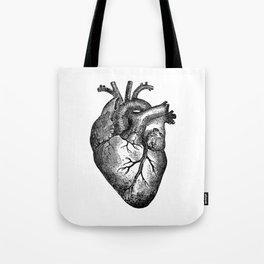 Vintage Heart Anatomy Tote Bag
