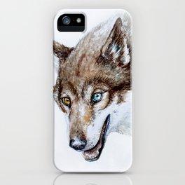 Heterocromia wolf iPhone Case